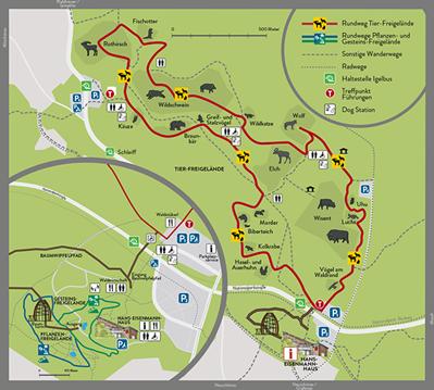 Nationalpark Bayerischer Wald, Tierfreigelände