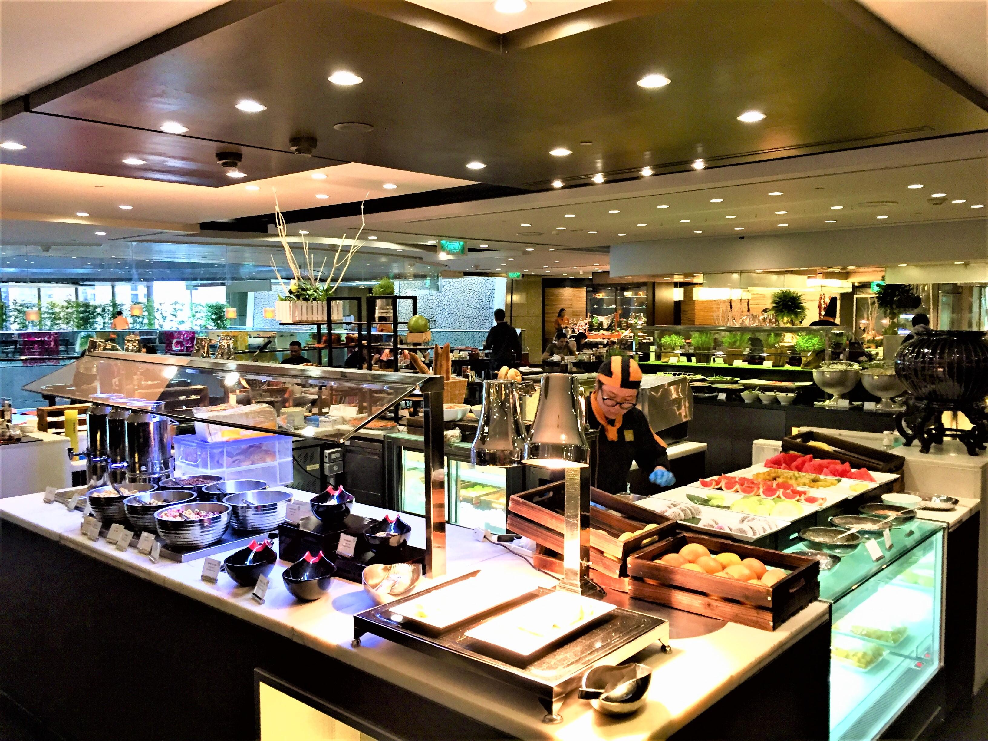 Frühstücksbuffet im Shangri-La Taipeh