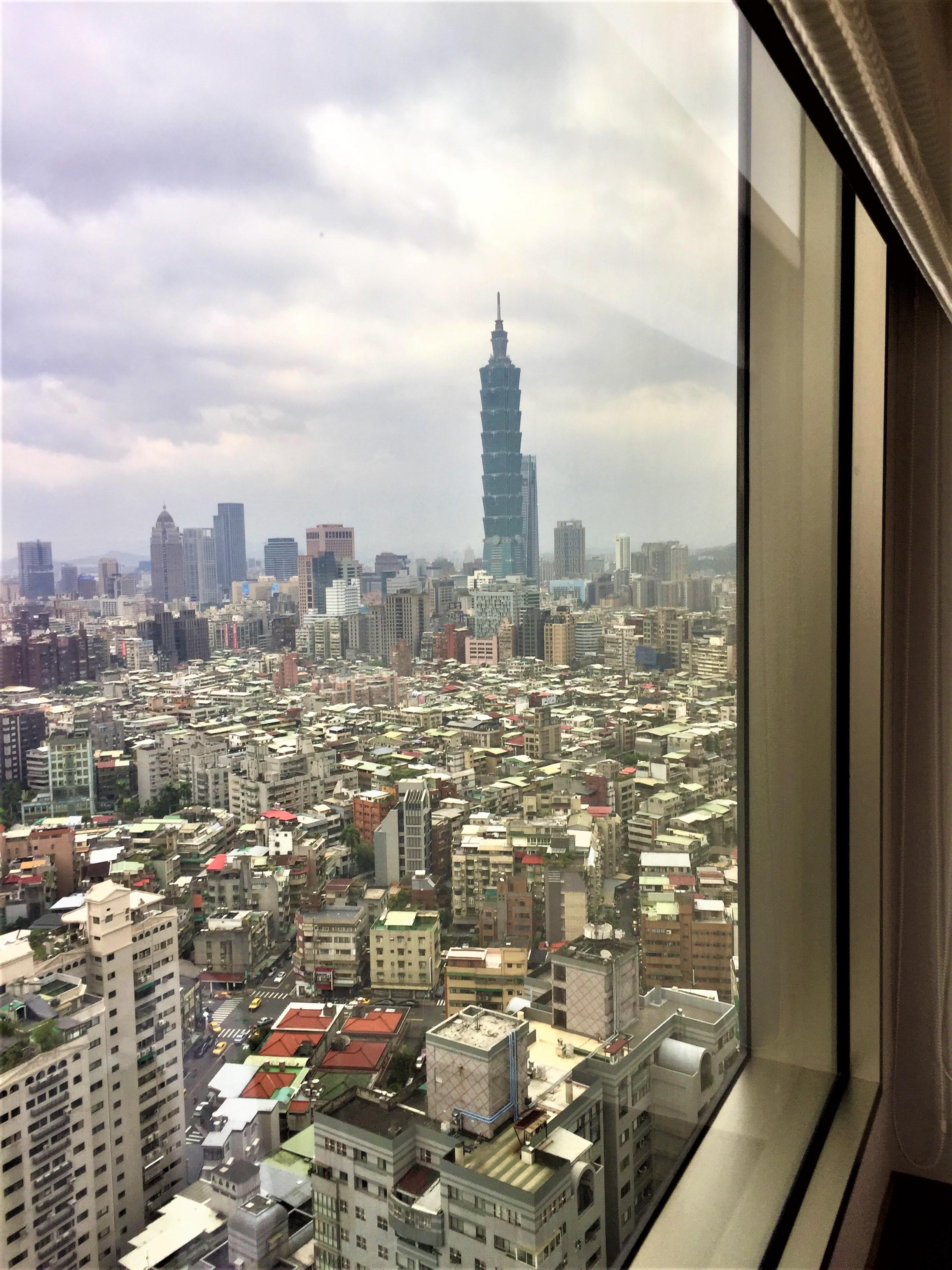 Blick auf den Taipeh 101, Shangri-La Taipeh
