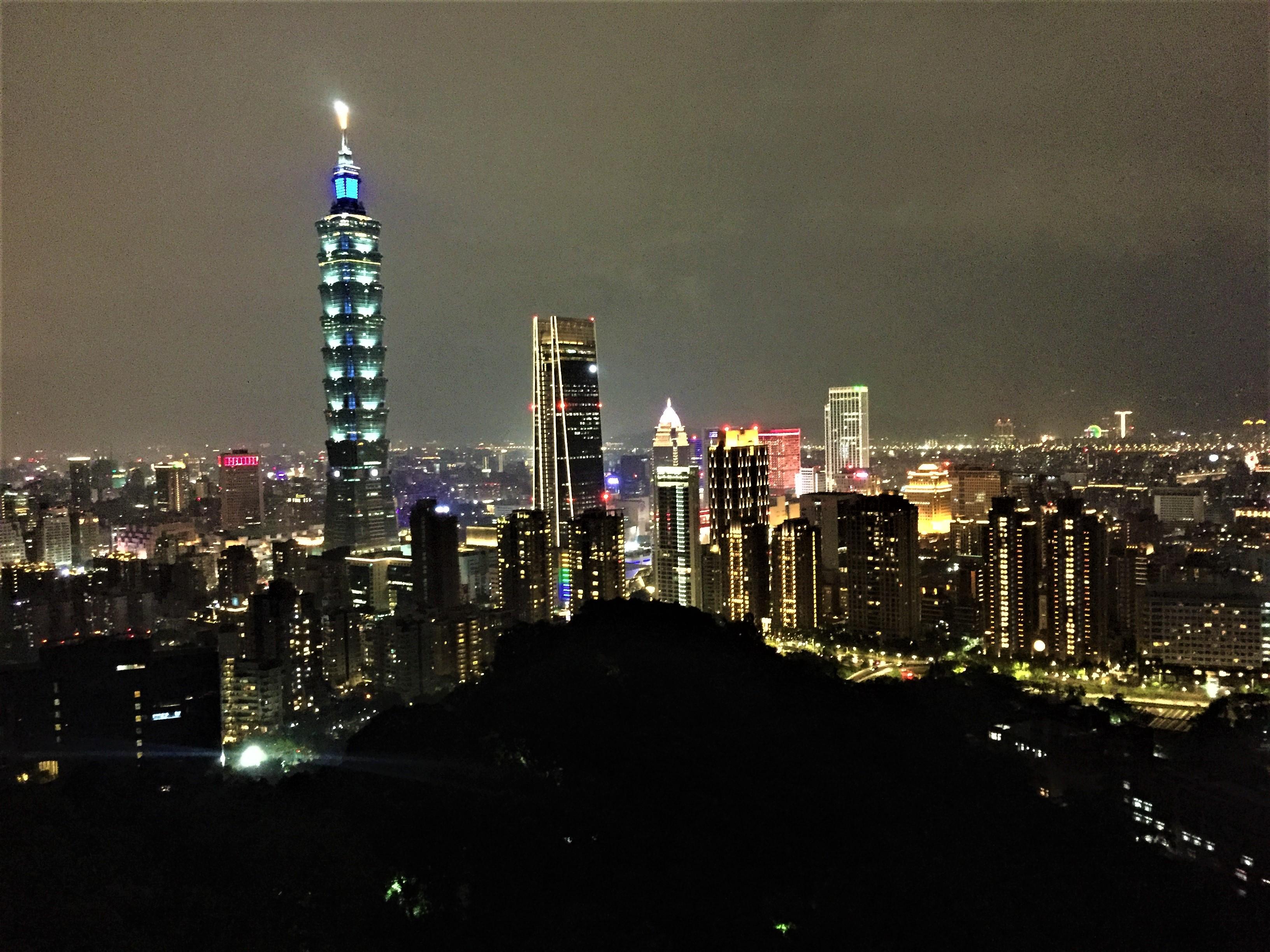 Taipei 101 bei Nacht,