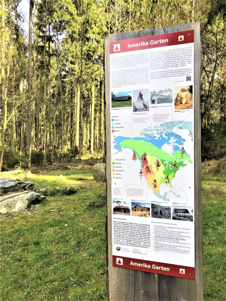 Abenteuerspielplatz Weltwald Freising Amerika-Garten