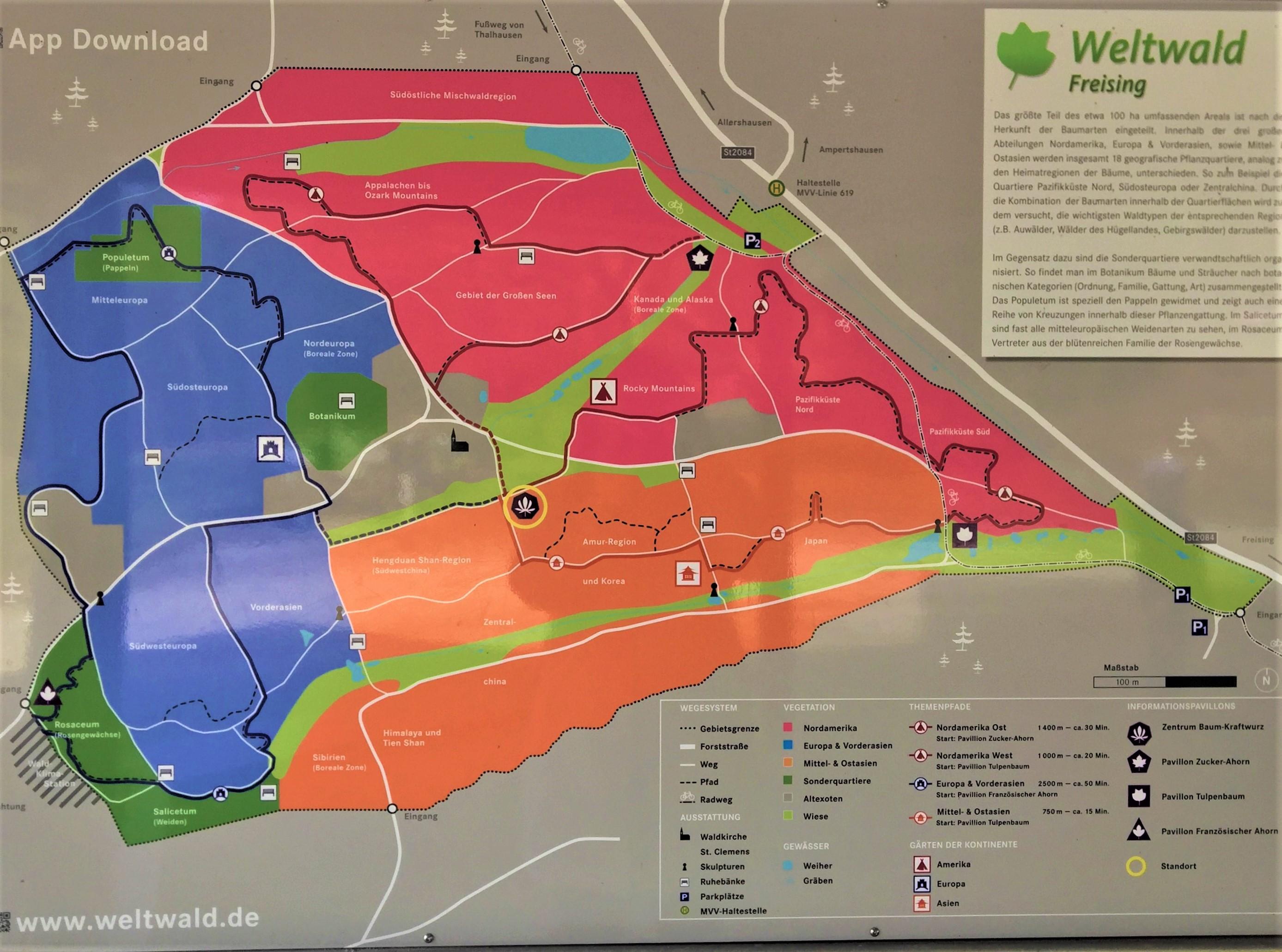 Uebersichtstafel Weltwald Freising