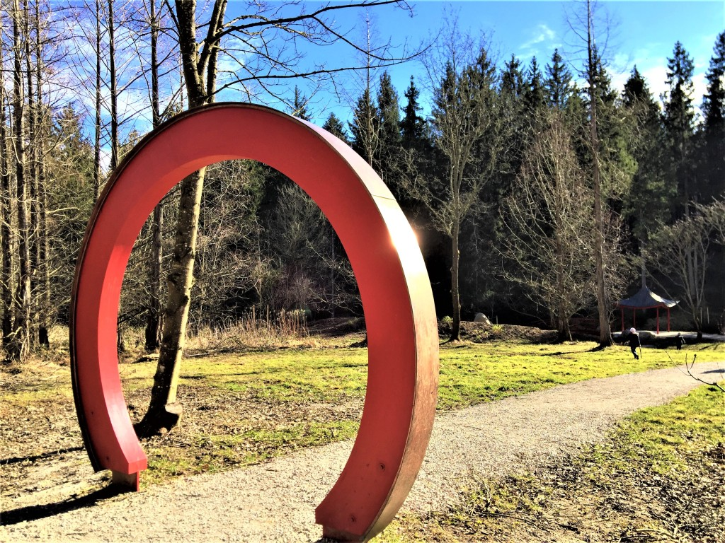Eingang zum Asien-Garten Weltwald Freising